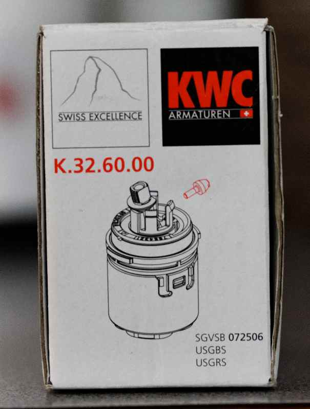 to replace the cartridge in a KWC Domo faucet